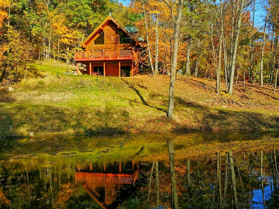 Paint Creek Log Cabin With Hot Tub Jacuzzi 5 Br Cabins