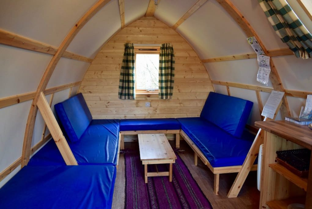 The inside of the Cabin