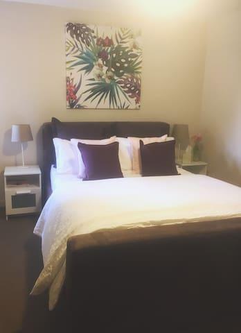 Comfortable queen size bed