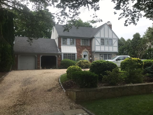 Tudor style home on the water of Stamford