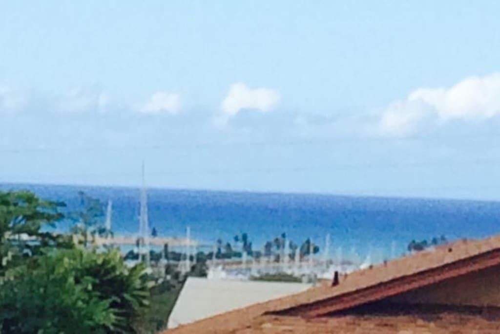 View from front gate is the marina at Ko Olina resort