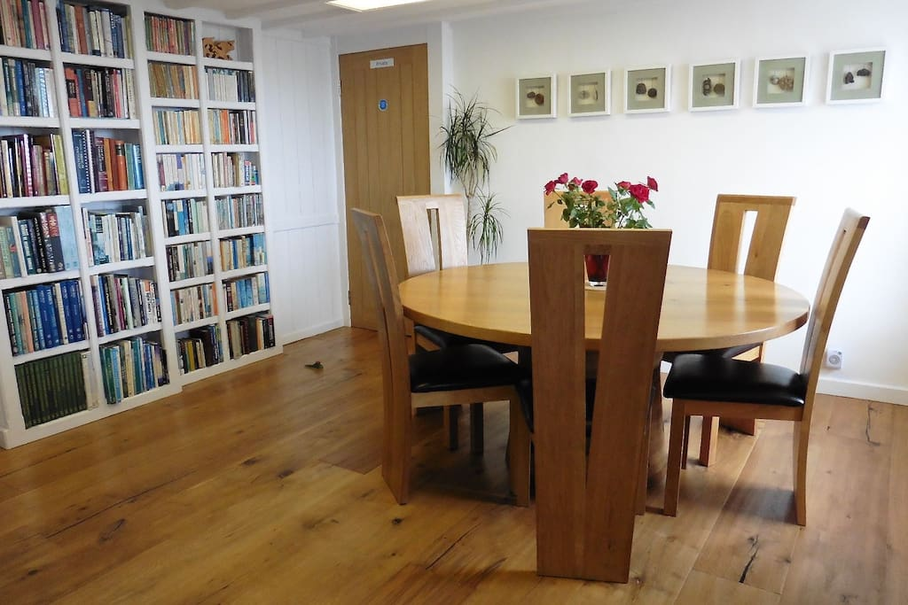 The oak table was hand-made by Graham at his Grenaby studio. Take a day's 'Turning experience' during your stay.