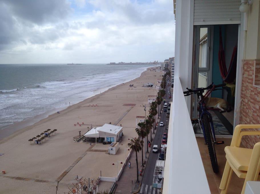 Views from the terrase in a cloudy day / Vistas desde la terraza en un día nublado