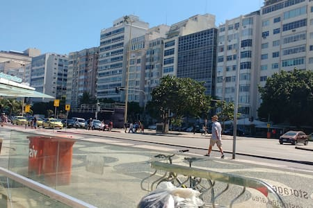 Apto 02 quartos Av. Atlântica. - Rio de Janeiro - Appartamento