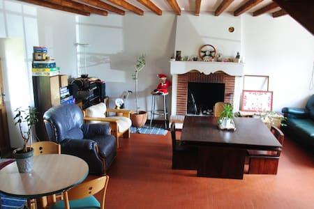 Jolie chambre, petit déj, cheminée, 20 mn Nantes - Huis