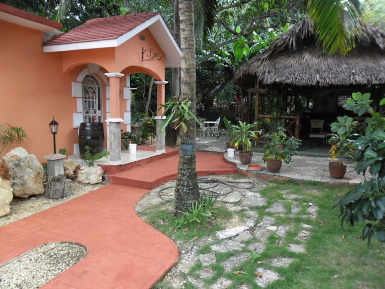 front of the house,main entrance to the garden and other villas (all photos to be update after renovations in progres )