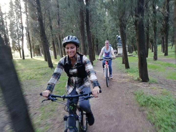 riding through the green