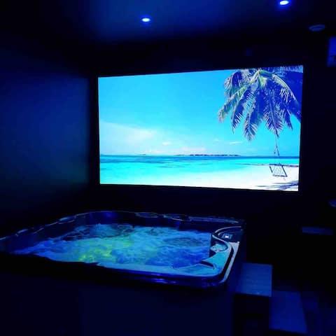 Alojamiento privado:  jacuzzi, sauna, ducha doble