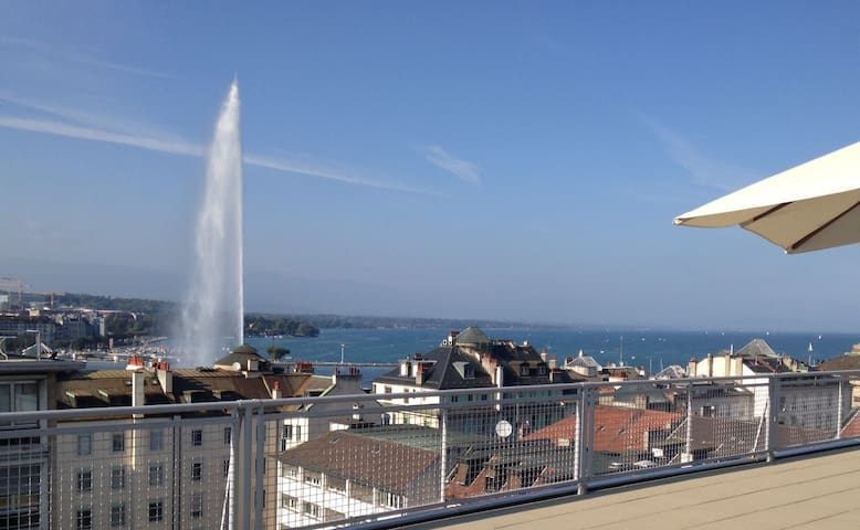 Spacious flat in the very center of Geneva. - Geneve - Huoneisto