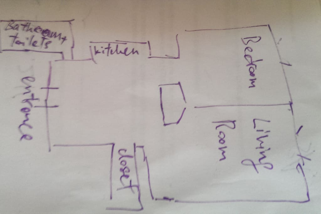 Voici la disposition de l'appartement. Here is the layout of the appartment.