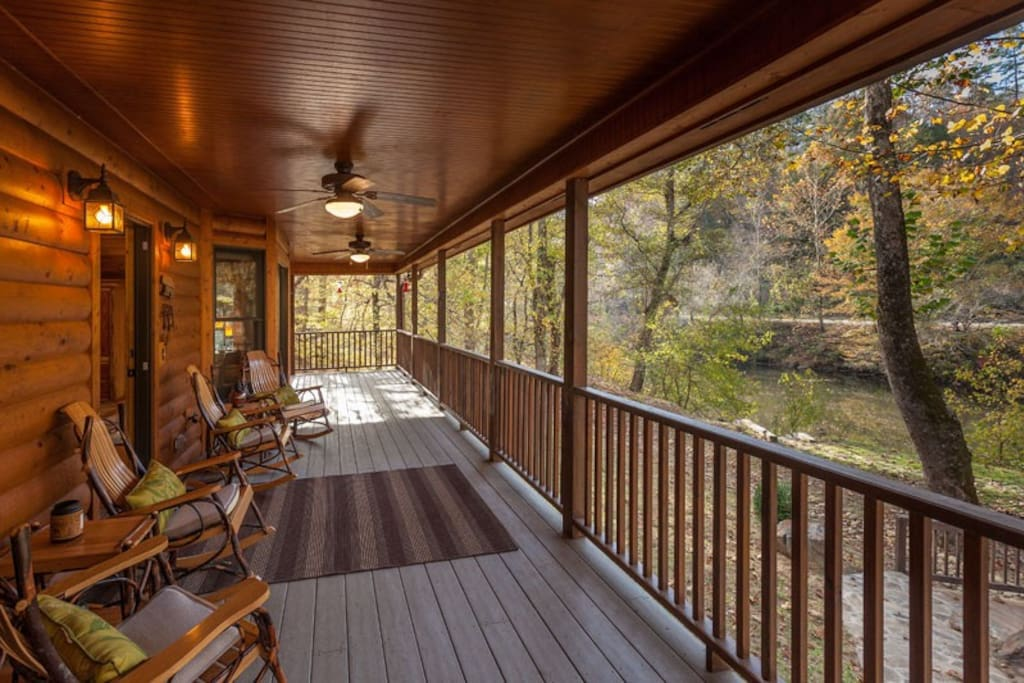View of the Coosawattee River from the deck area