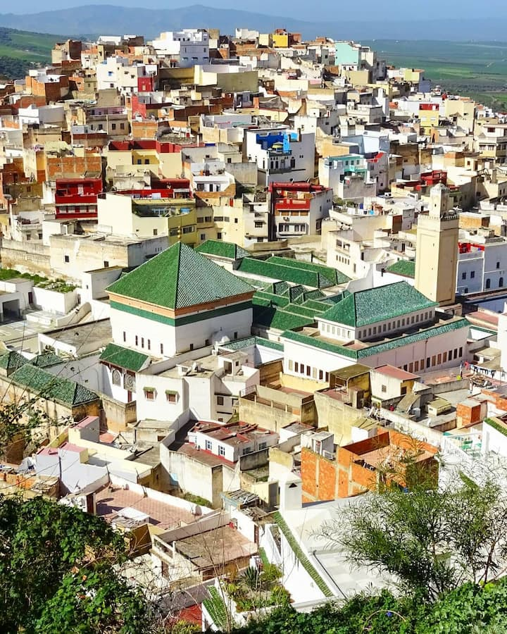 View point of Moulay Idriss Town