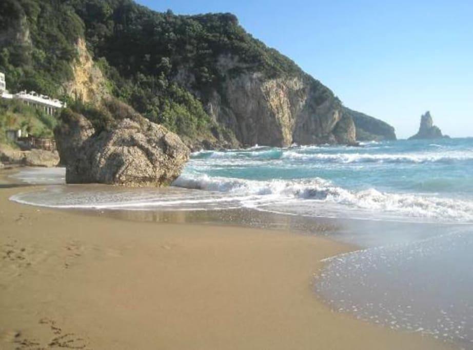Agios Gordios beach  50 meters way