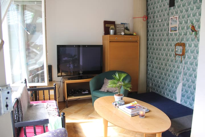 One bedroom in a big house near the city center - Danderyd - House