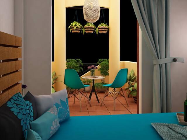 Bookaholic room with balcony - Da Nang