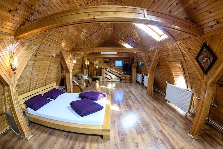 Wooden Attic Suite