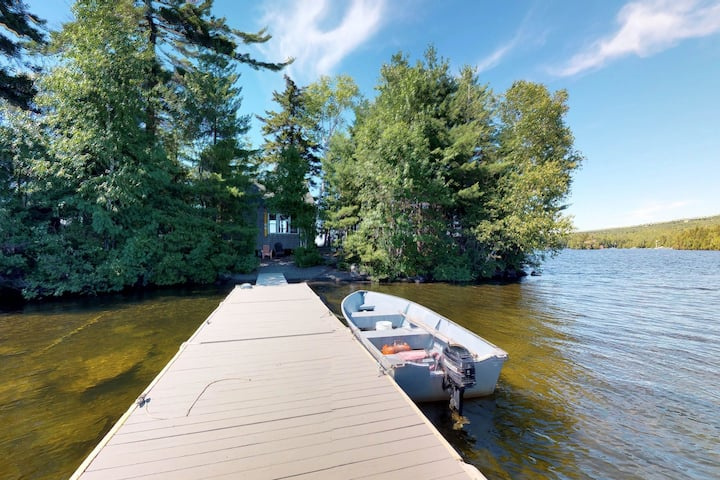 Dog-friendly house on private island w/ firepit, private dock, & outdoor shower!