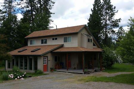 Passive solar farm house.