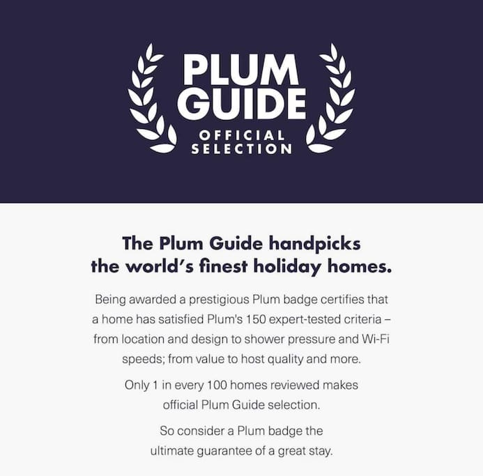 Selected again for inclusion in the Plum Guide 2018