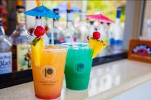 Handcrafted cocktails available for your enjoyment at the Mermaid Bar.