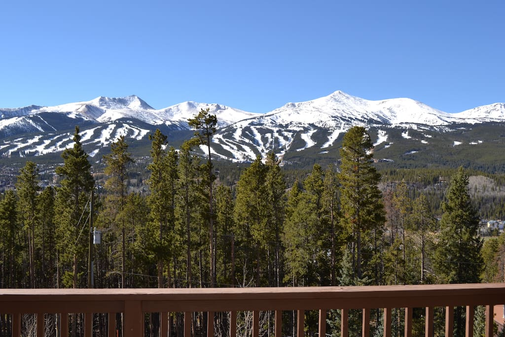 View of ski area from front deck