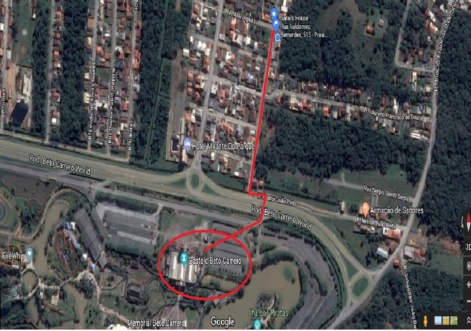 Mapa Sarai's House - Beto Carrero