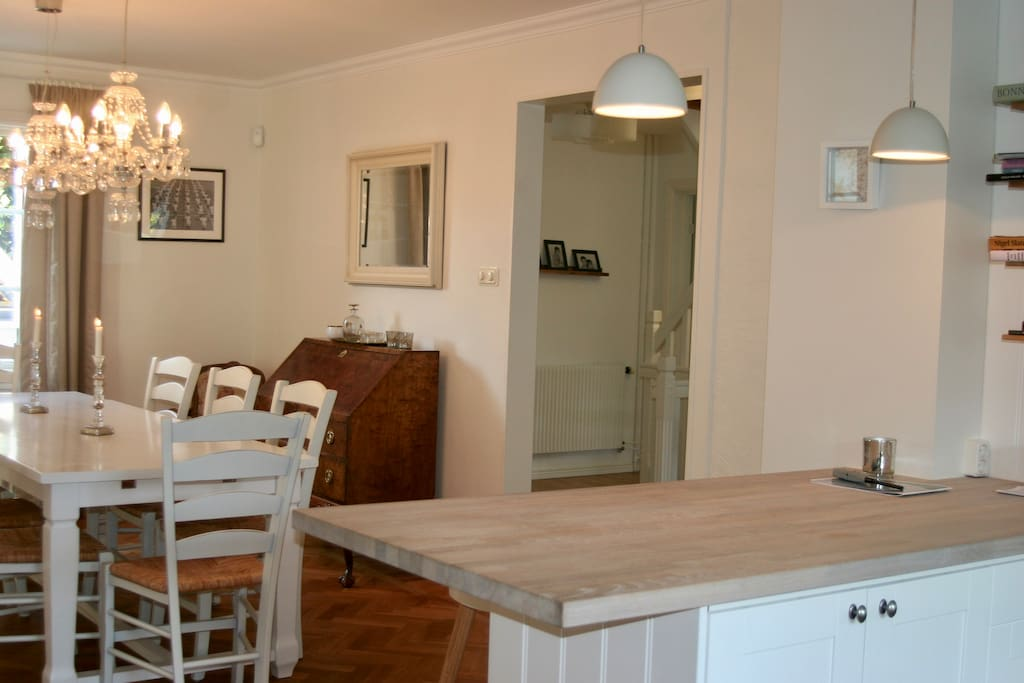 Open dinning and kitchen area
