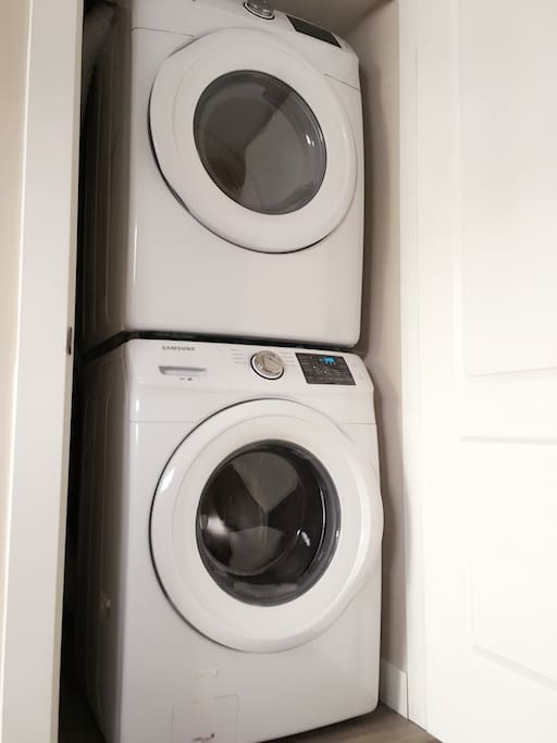 Brand new washer and dryer in the suite!