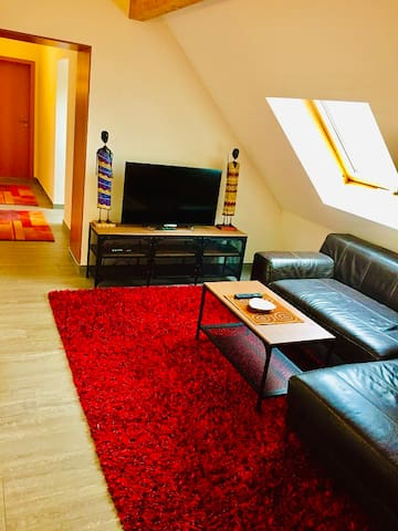 Independent double room in modern house