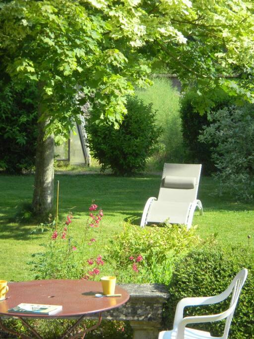 vue de la chambre le jardin