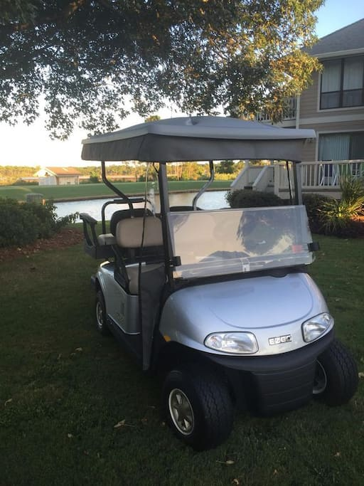 2017 Brand new EZ-GO golf cart complete with built in side cover for adverse weather