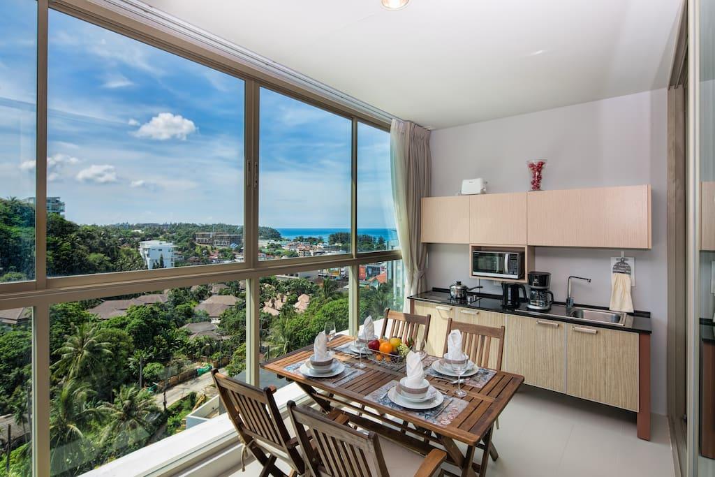Enjoy amazing sea view from your kitchen!