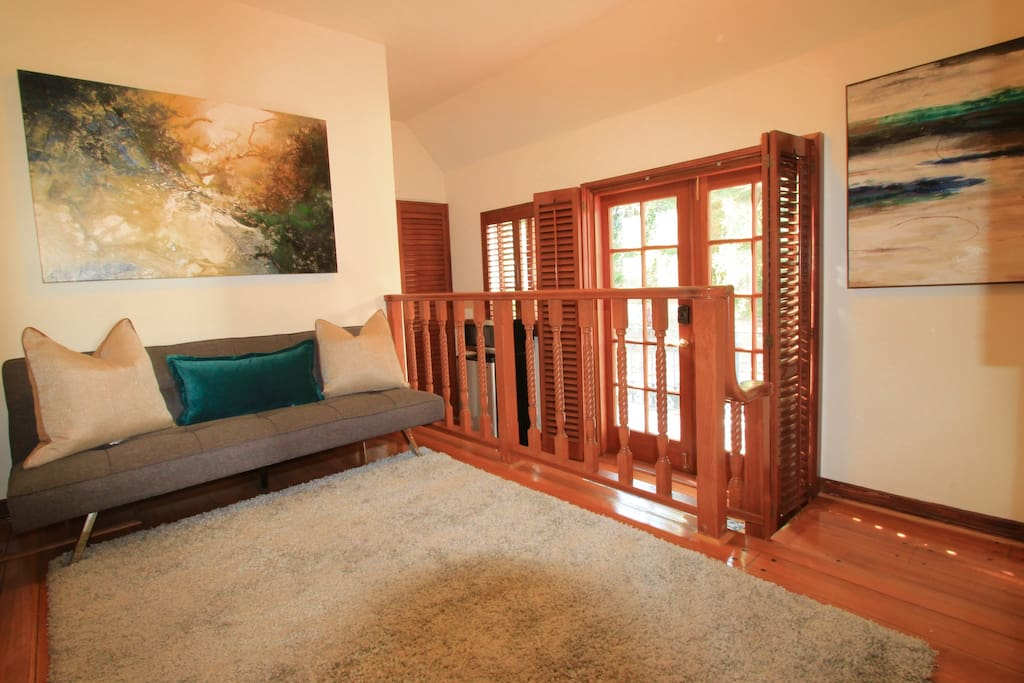 Second room can be used as a 2 bedroom with the fold or futon bed, or a den/sitting room.