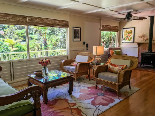 Beautiful Plantation Cottage With Private Gardens Houses For Rent In Volcano Hawaii United