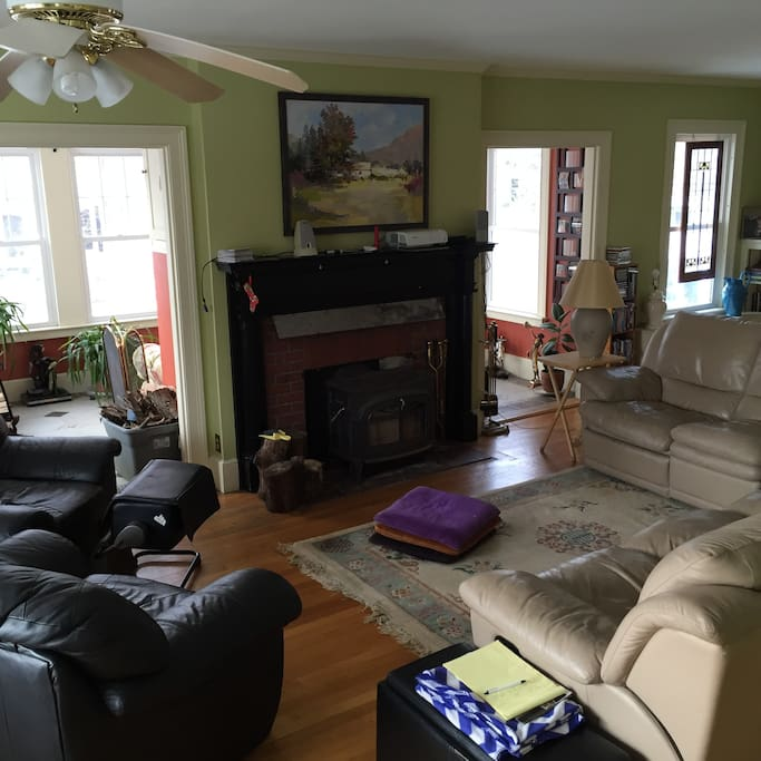 Large Living w Fireplace