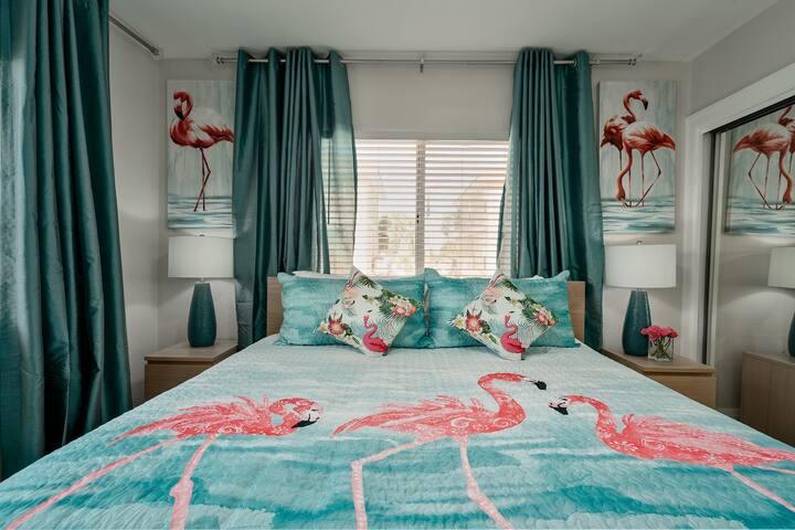 The Flamingo room