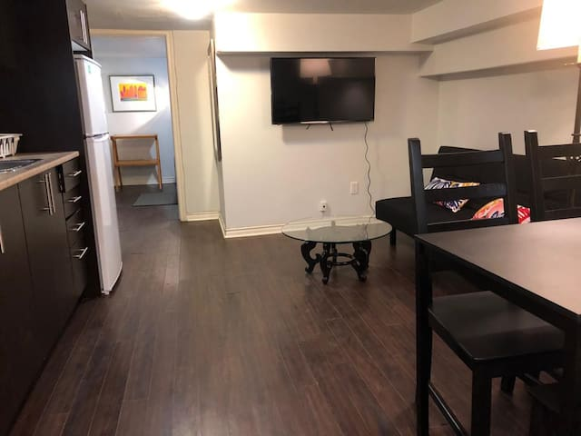 Trinity Bellwoods Lower Level Suite with Parking