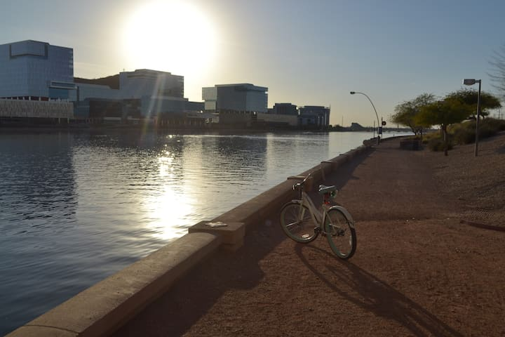 Biking around Tempe is one of our favorite activities.