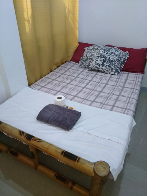 4 pillows, blanket, towel, tissue papers, soap and shampoo are provided.