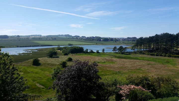 Alnmouth room over looking the old harbour & river