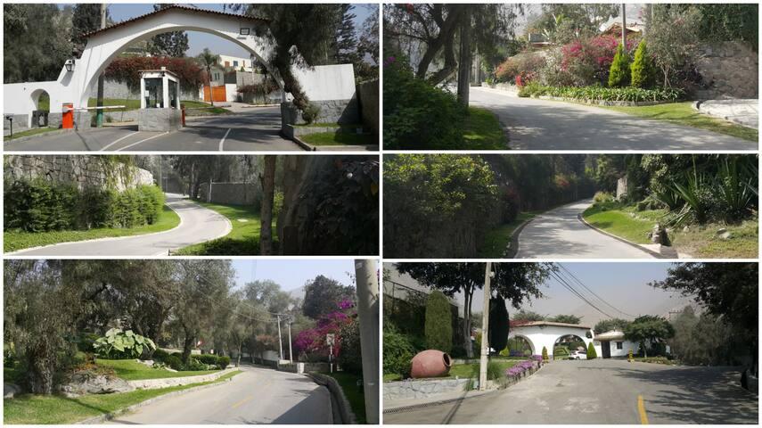 Vecindario vigilado muy seguro/ camino de subida a la casa (está en las partes mas altas de Chaclacayo)