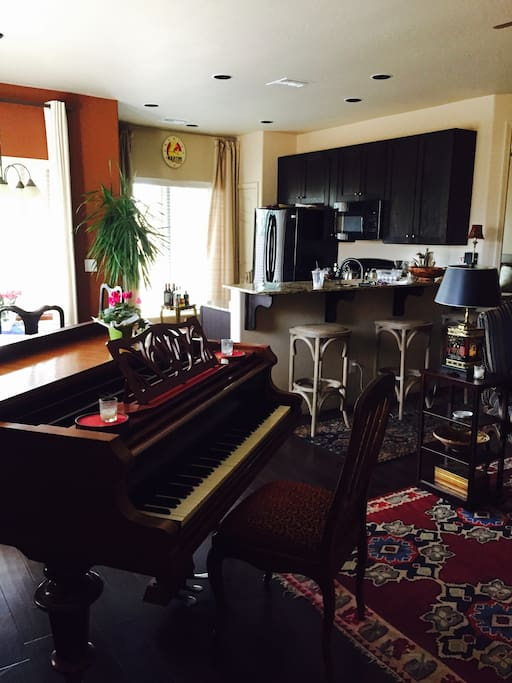 Piano in Living Area