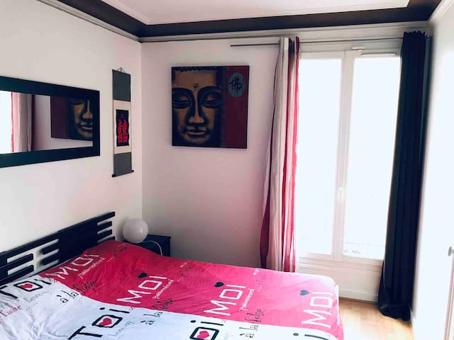 Beautiful room.🏳️‍🌈MARAIS🏳️‍🌈. Paris Center.