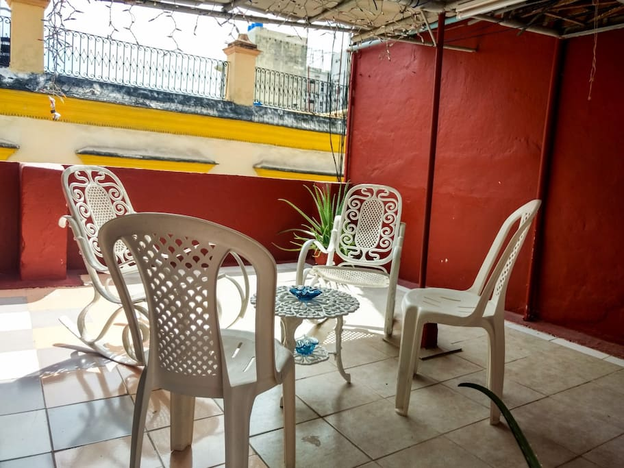 Welcome to your terrace. Full of natural light apartment.