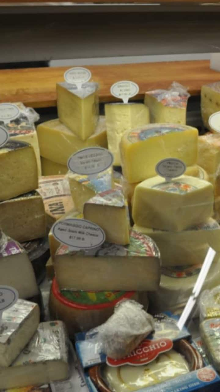 IMPORTED ITALIAN CHEESES FROM THE GROCER