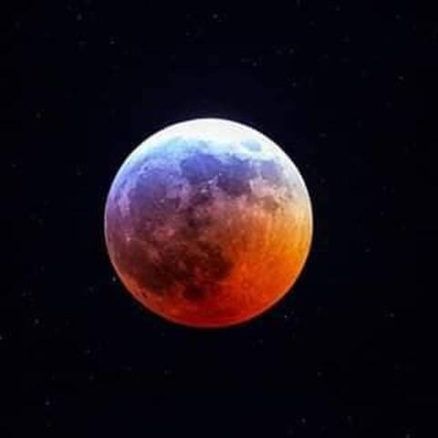 ELQUI VALLEY ECLIPCE RED MOON.