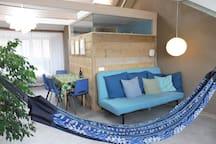H73: comfy & calm private loft in city centre