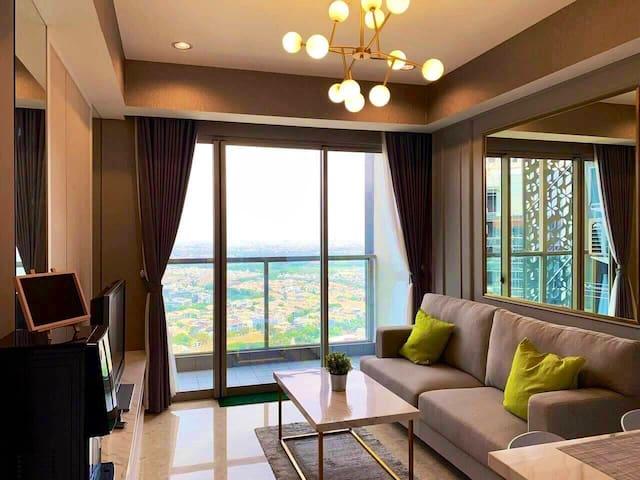 Penthouse Floor Gold Coast PIK, 1BR+1 Living Room