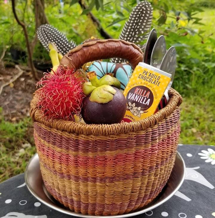 Seasonal fruit and local treats.