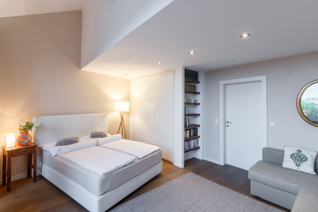 Master bedroom with TV (Netflix & local & international channels)
